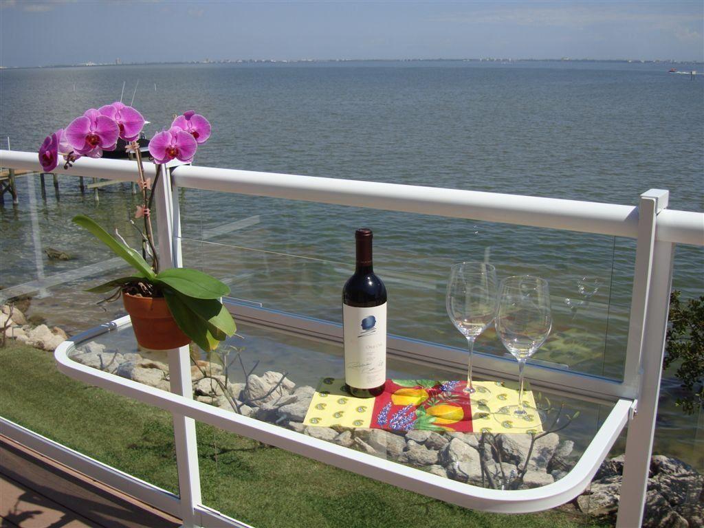 Amazon Com Terrace Table White Balcony Bar Patio 400 x 300