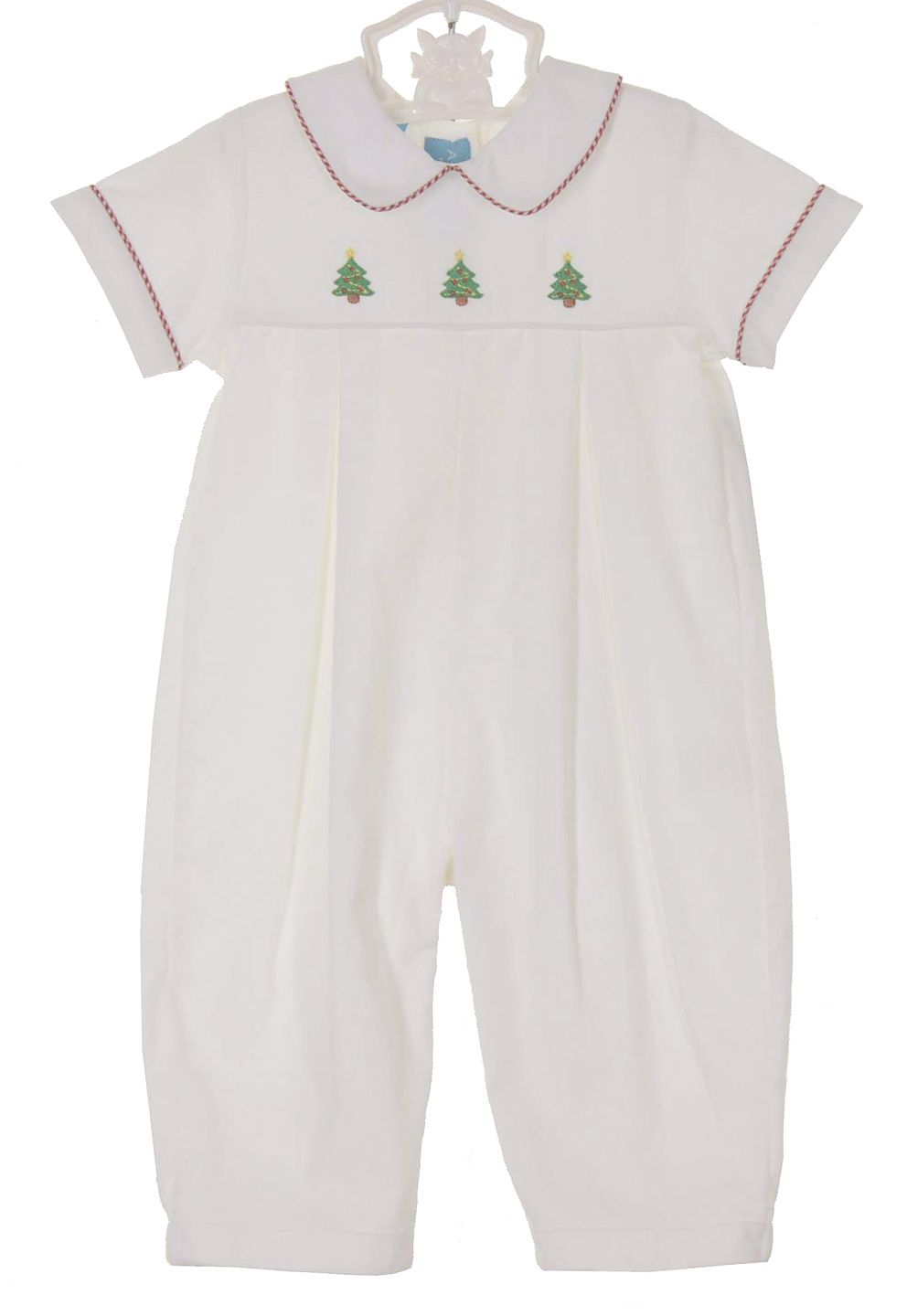 ae7a35be5 NEW Anavini White Soft Cotton Corduroy Romper with Embroidered ...