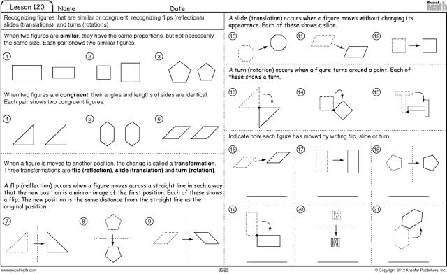 math worksheet : similar shapes congruent shapes and transformation  math  : Math Transformations Worksheets
