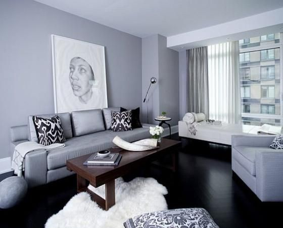 Living Room Colors For Dark Wood Floors black hardwood floor and gray color scheme -- ?repaint living room