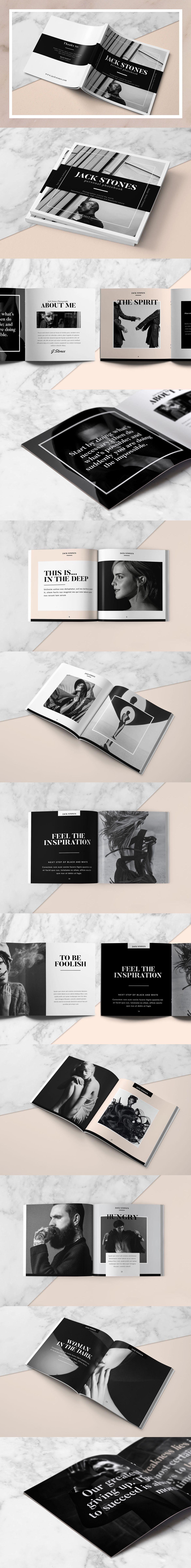 Square Portfolio Book 24 Pages Tempalte InDesign INDD | Portfolio ...