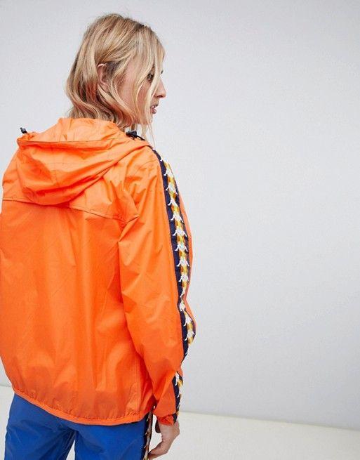hot product cost charm shop K-Way X Kappa zip through rain jacket | c l o t h i n g ...