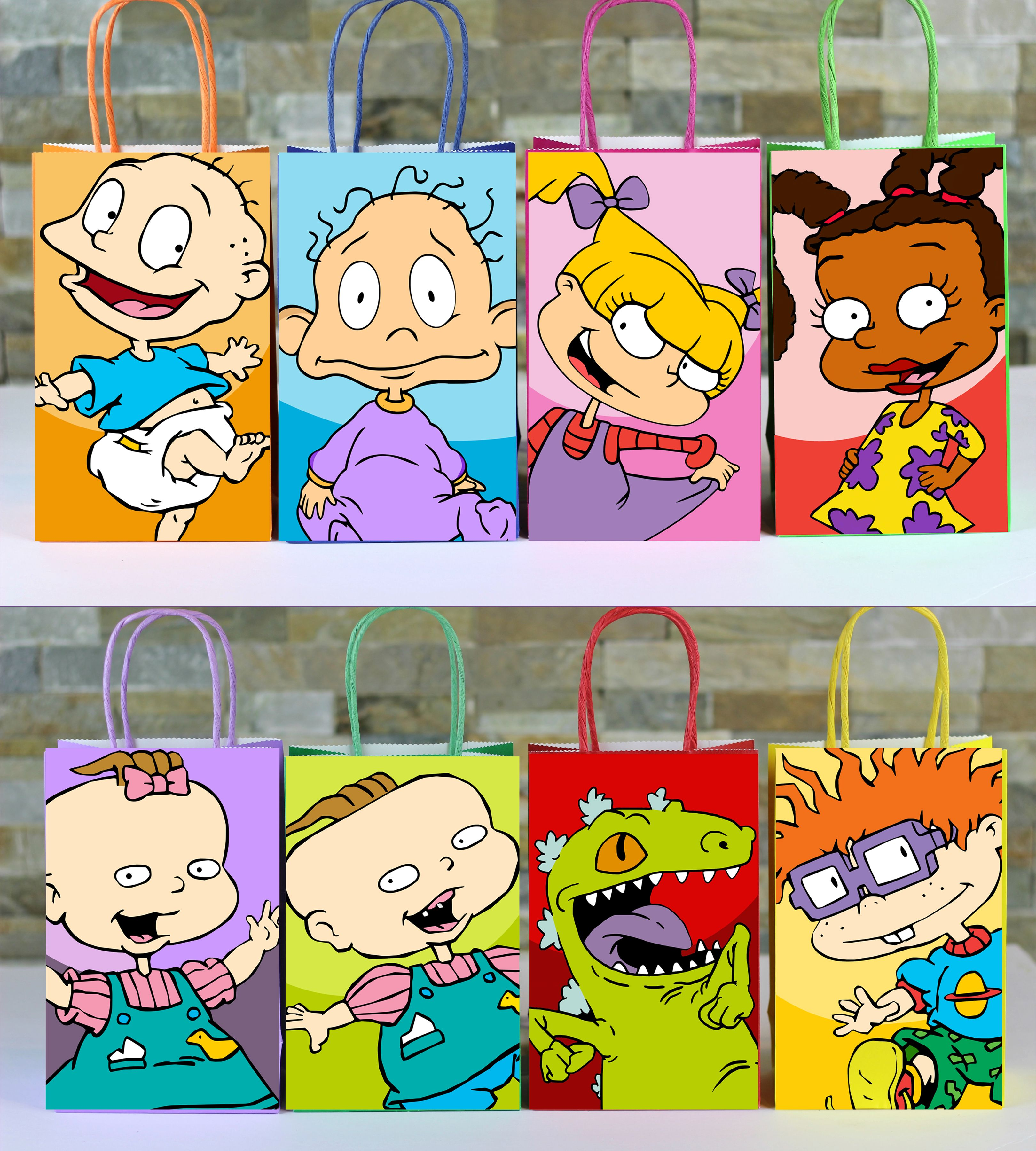 DIY Rugrats Favor Bags. Simply Print, Download, Cut And