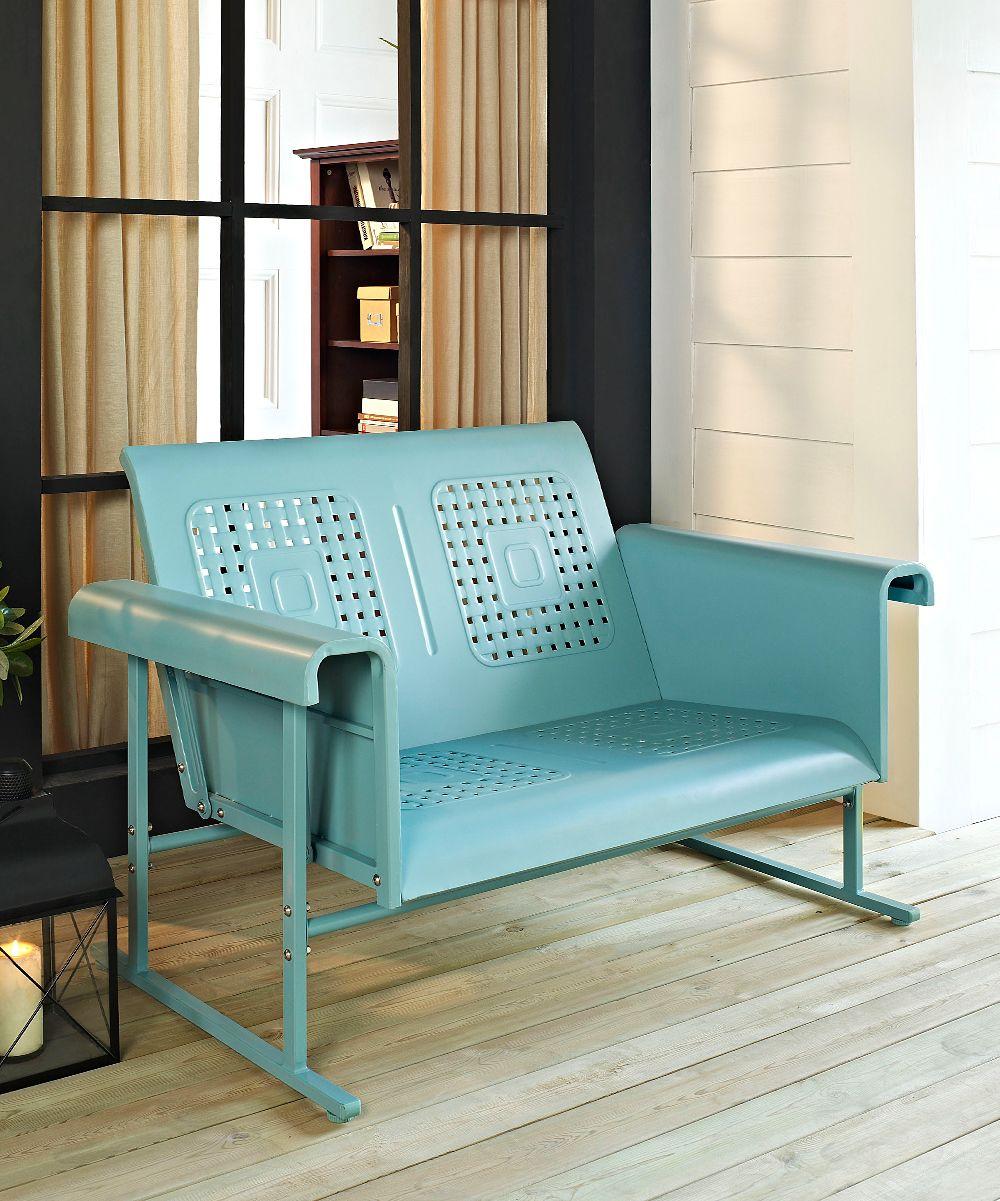 Crosley Caribbean Blue Veranda Love Seat Glider Zulily