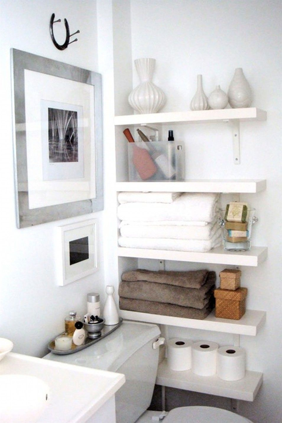 Bathroom Cabinet Storage Ideas For A Neater Home White Bathroom ...