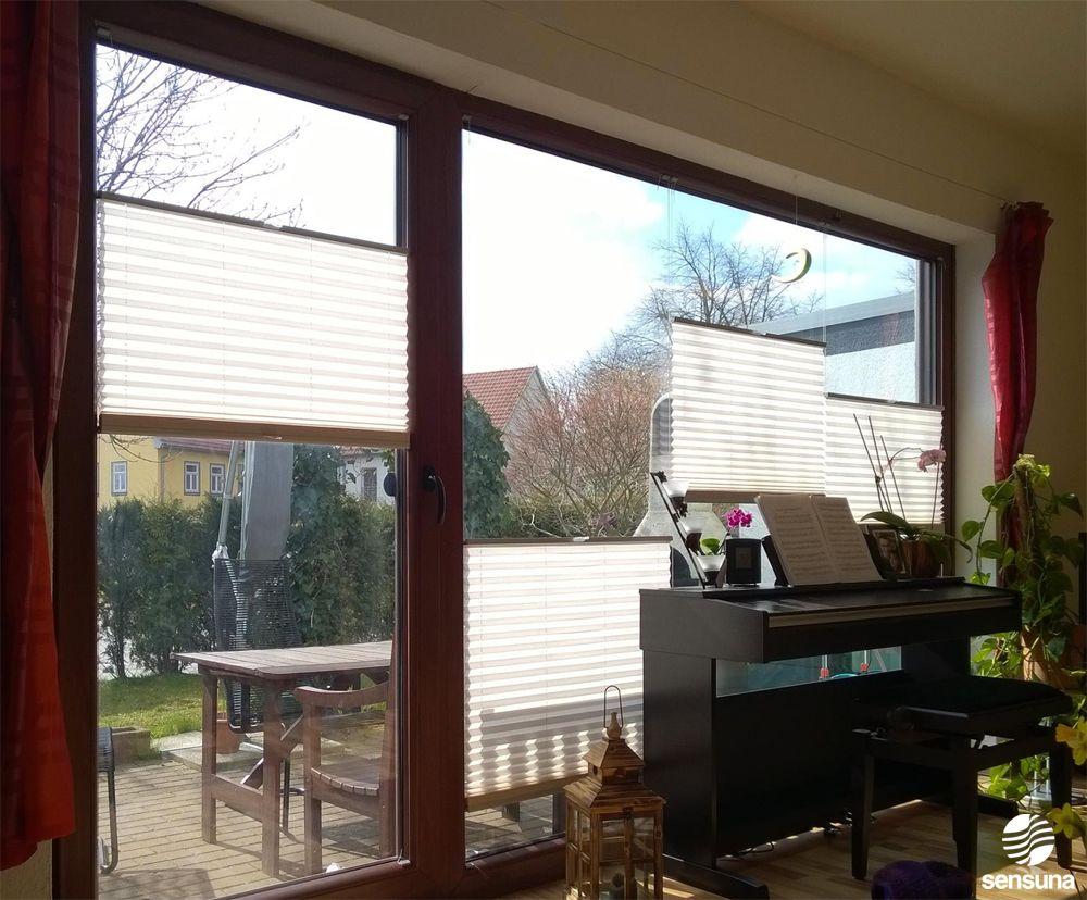Tolle Losung Auch Fur Grosse Fensterfronten Mehrere Sensuna Plissees An Einem Grossen Wohnzimmerfenster All Fenster Plissee Grosse Fenster Dekoration Wohnung