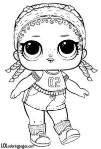 Kicks Lol Surprise Doll Coloring Page Coloring Pages