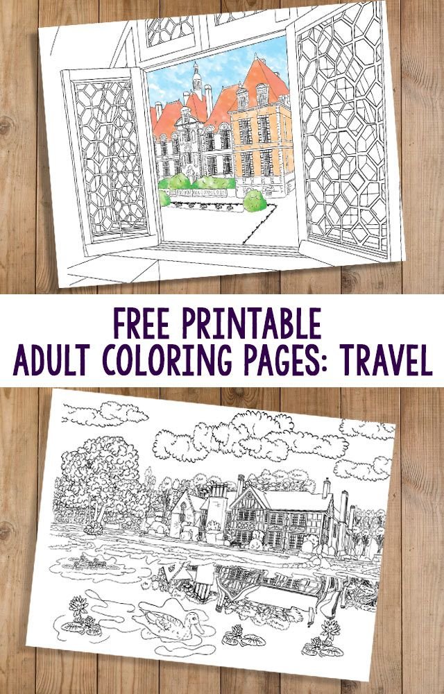 Strange Free Printable Adult Coloring Pages Travel Coloring Interior Design Ideas Tzicisoteloinfo