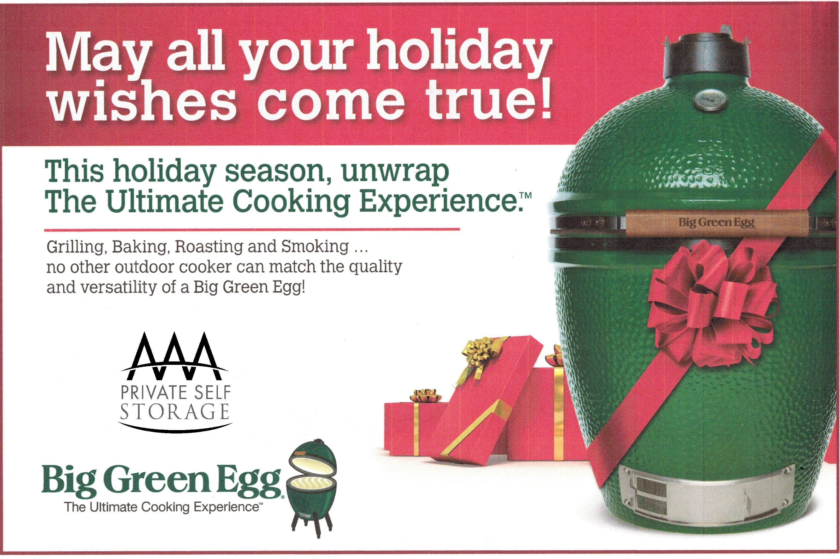 Now selling Big Green Eggs and Eggcessories! Come by the office ...