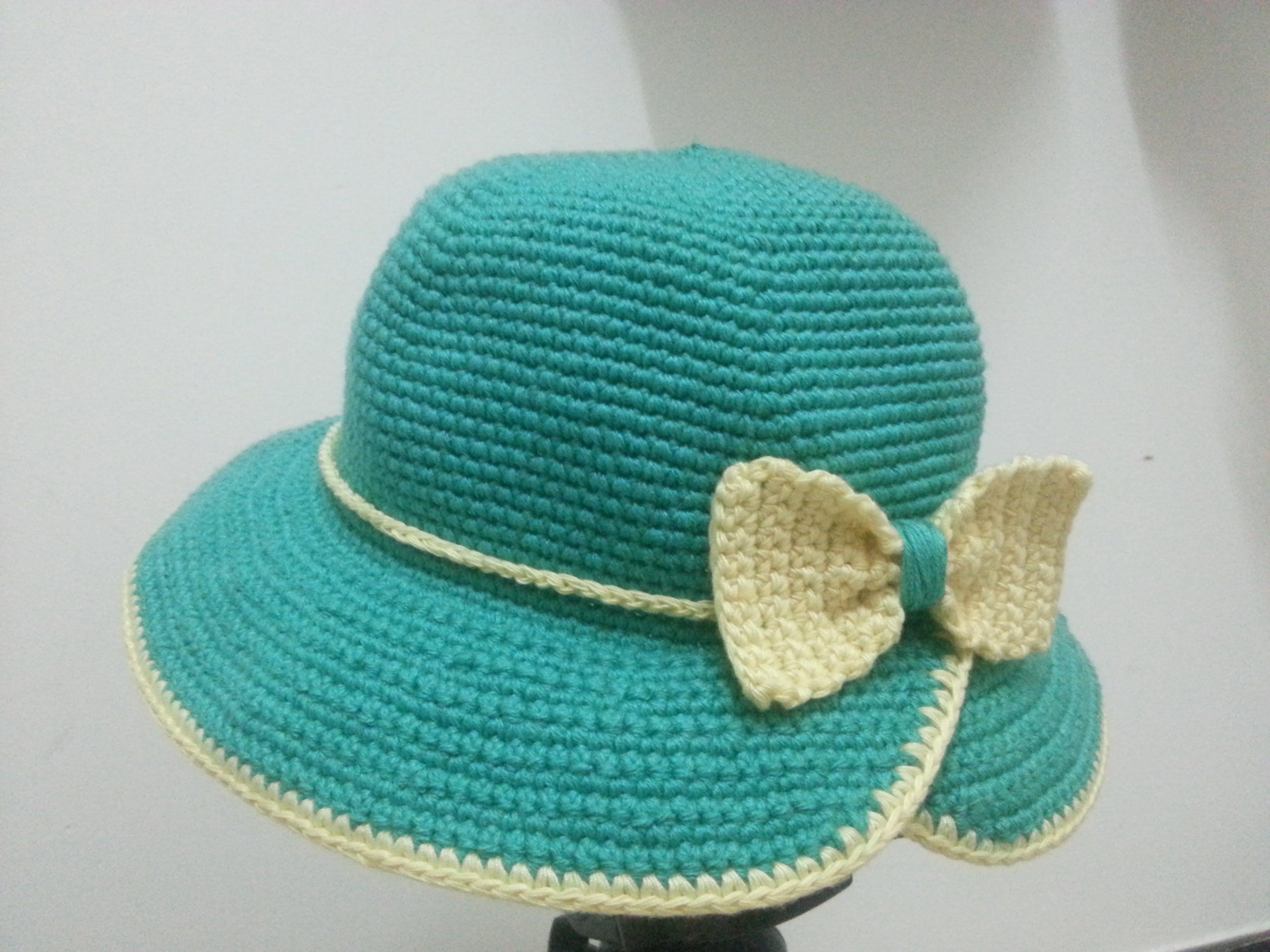 Crochet Hat] Hướng dẫn móc mũ tiểu thư vành khuyết (note: hai dòng ...