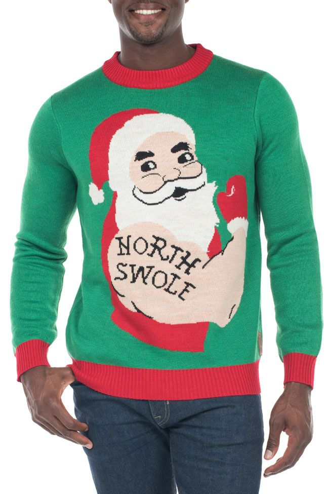 Men\'s North Swole Ugly Christmas Sweater | Ugly Sweaters | Pinterest ...