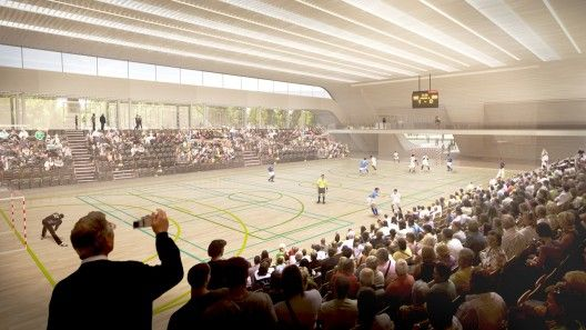 Multi Purpose Sports Hall Competition Entry Maca Estudio Virai Arquitectos Sport Hall Architecture Presentation Hall