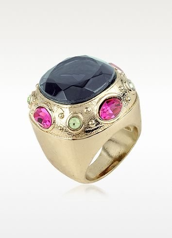 AZ Collection Large Crystal Stone Ring
