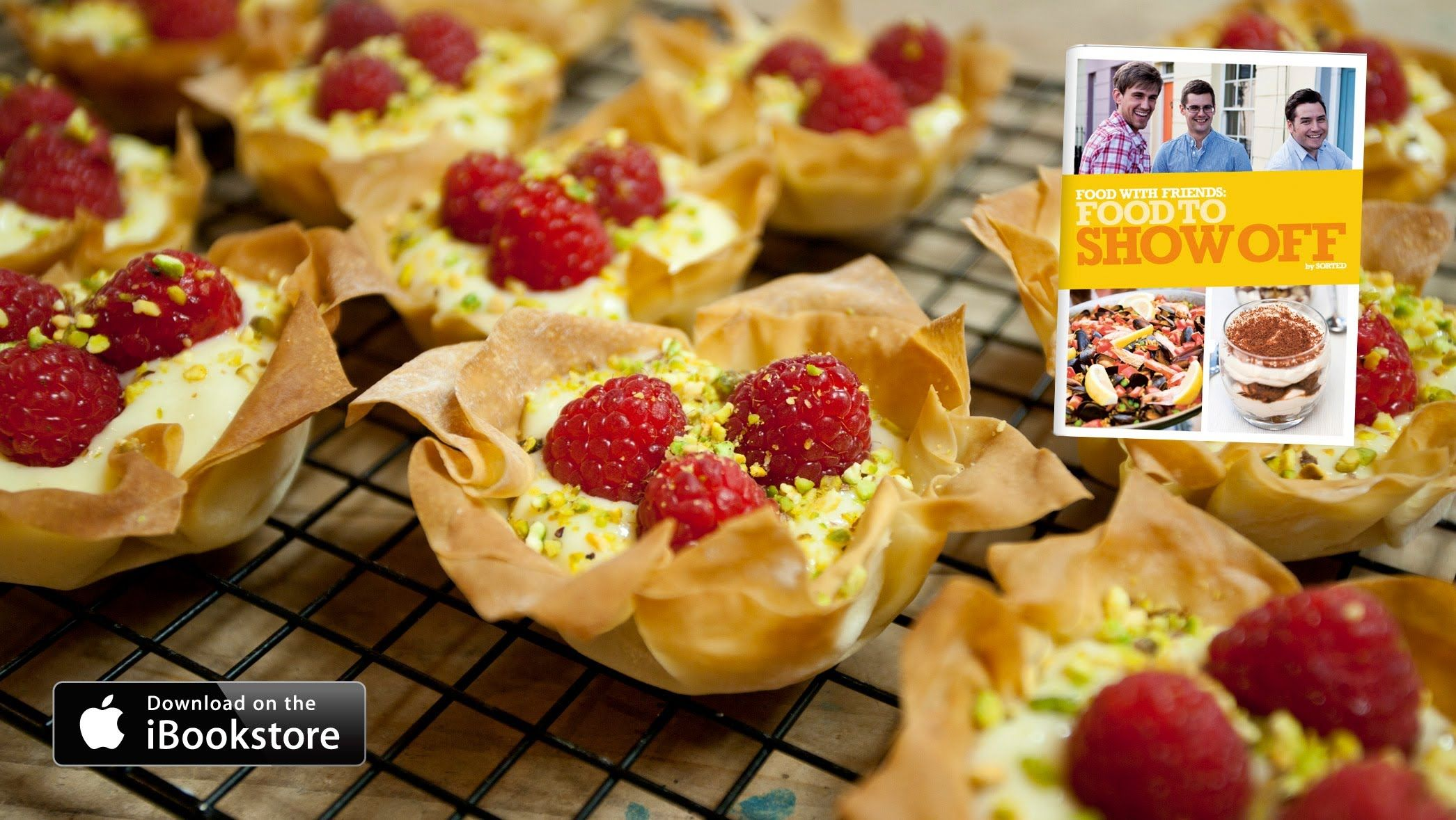 Raspberry tartlets recipe for tea party book swap or wine and sorted raspberry tartlets food to show off need this for the pastry cream recipe forumfinder Image collections
