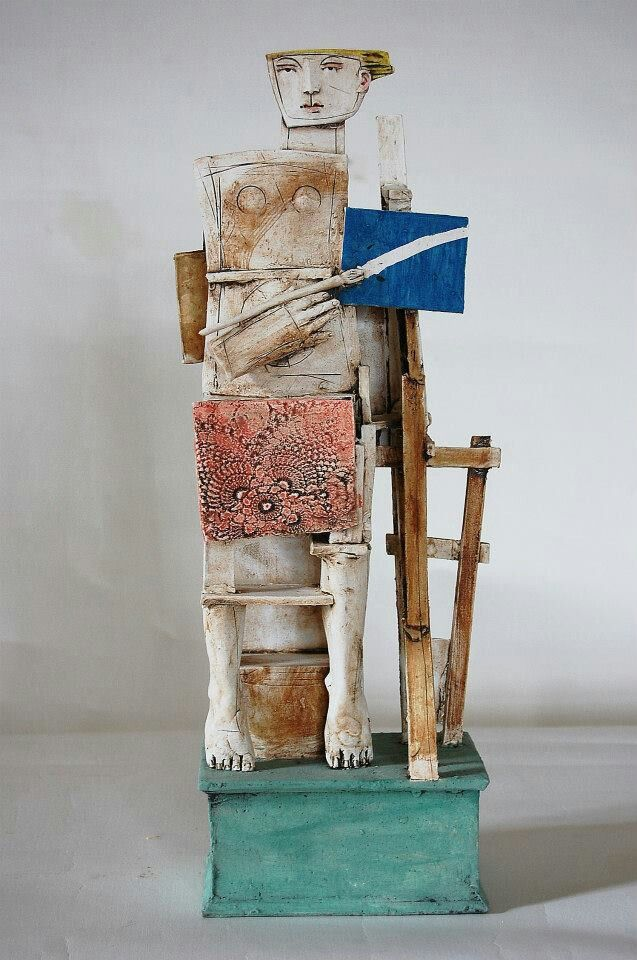 Christy Keeney ....ceramic and wood sculpture