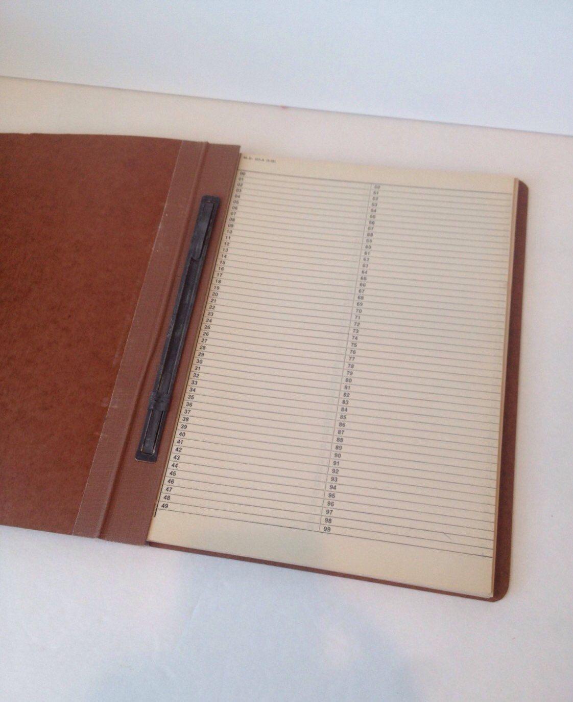 Vintage Notebook Ledger 1960s Smash Book Scrap Art Journal Old ...