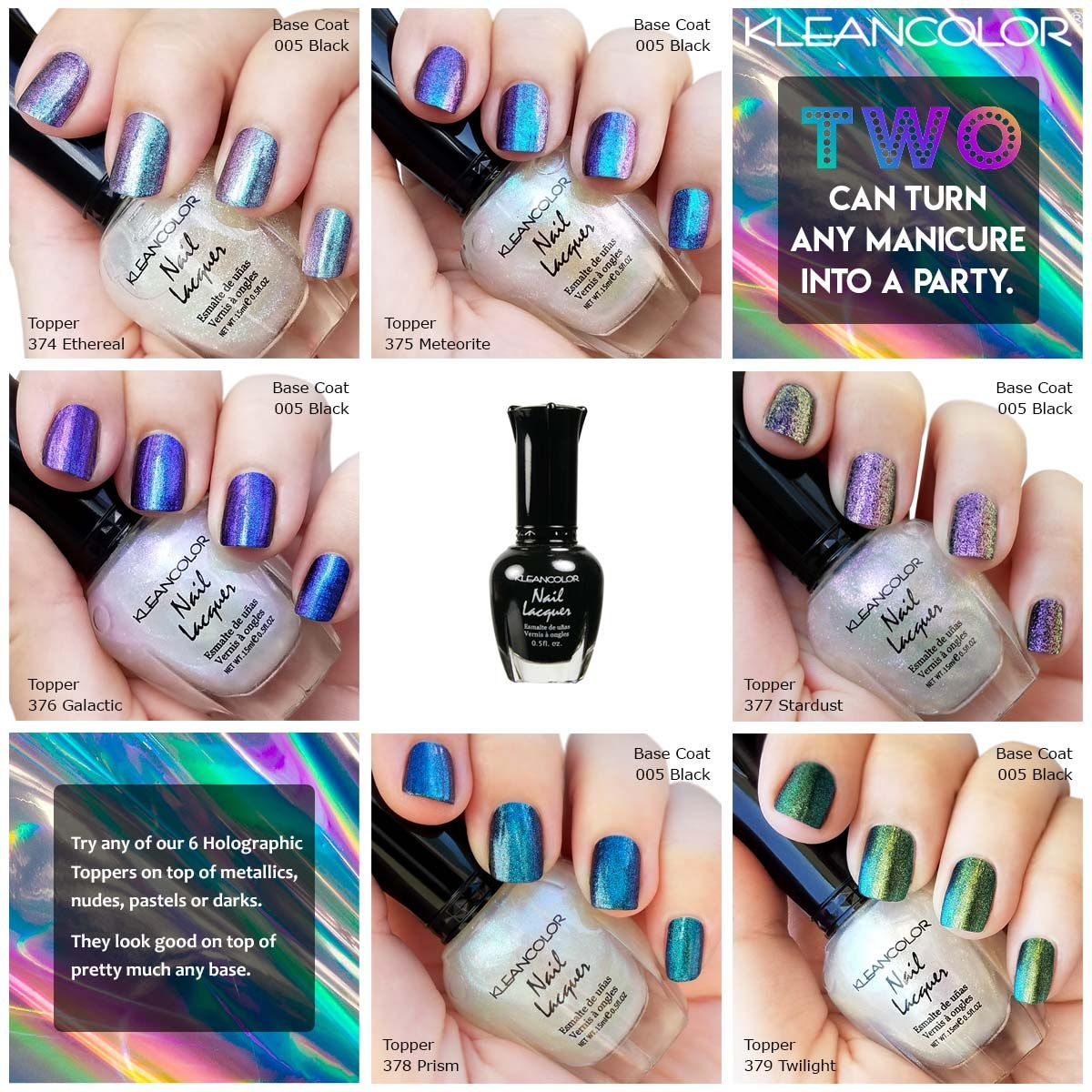 Check out the effects achieved with these swatches of new ...