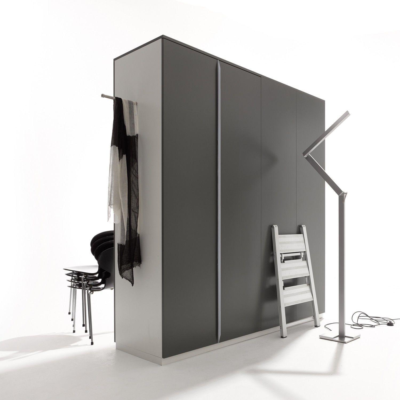 Modular 16 Kleiderschrank, 4türig mit Außenkleiderstange