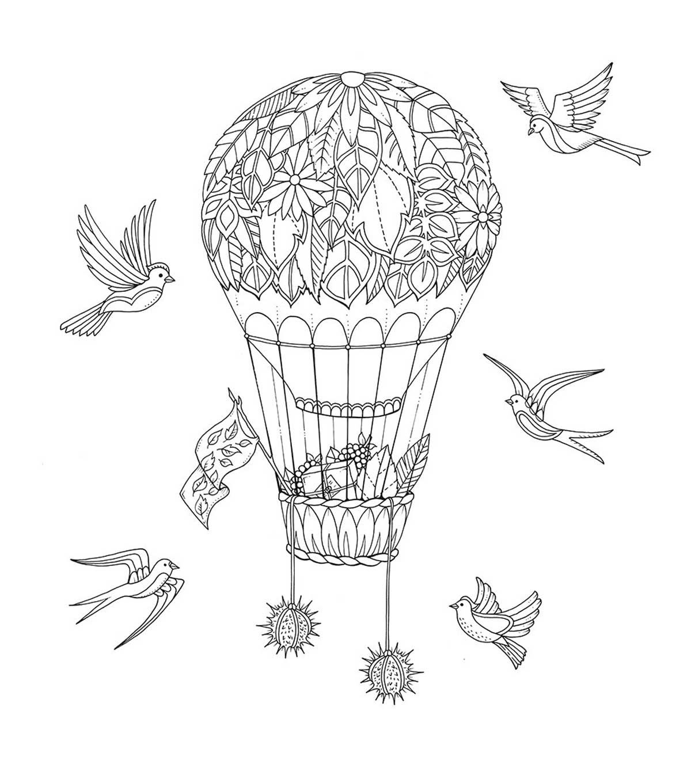 Johanna Basford lion - Google-Suche | Malvorlagen Ballons ...