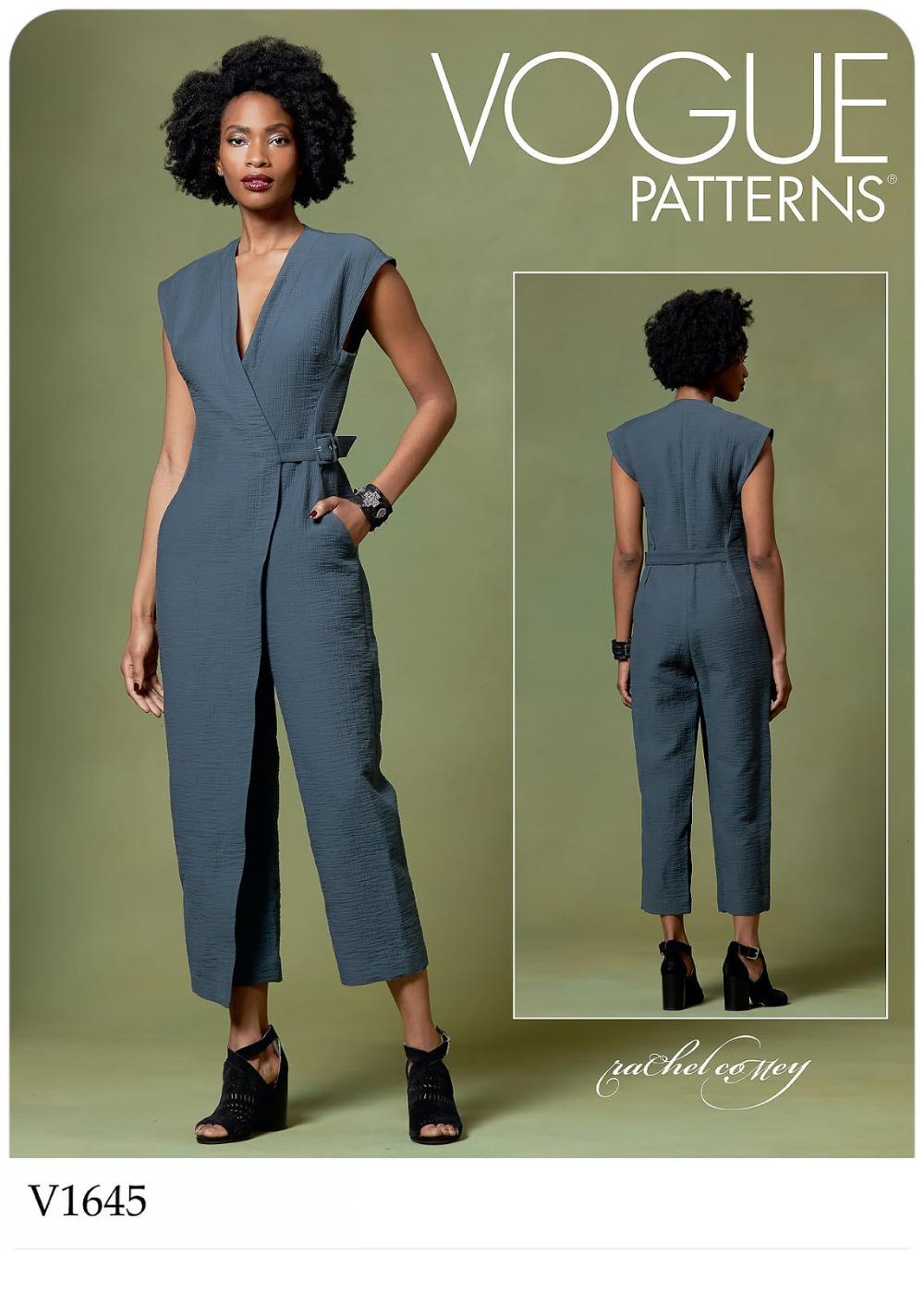 Vogue Patterns 1645 V1645 Jumpsuit Pattern Sewing Vogue