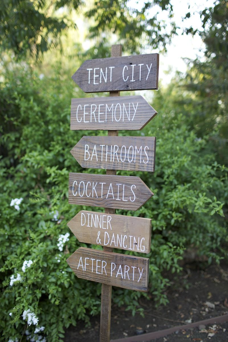 Bon Set Of 6 Directional Signs. Custom Hand Painted Wedding Signage.  Information In Style!