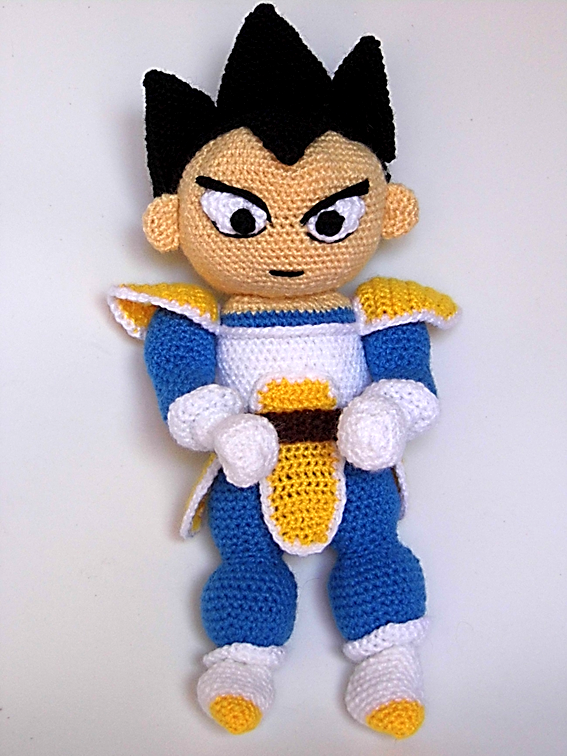 Patrones Amigurumi: Vegeta (Dragon Ball) | Amigurumi | Pinterest ...