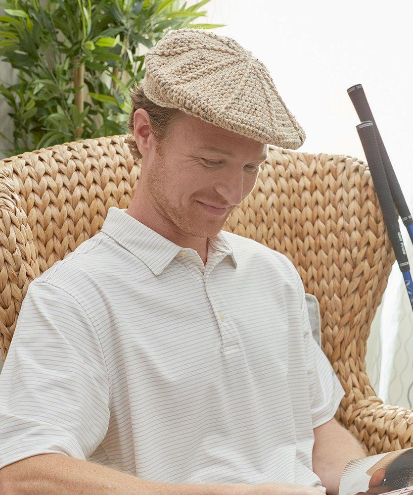 Men\'s Vintage Golf Hat | Red Heart | Crafts | Pinterest