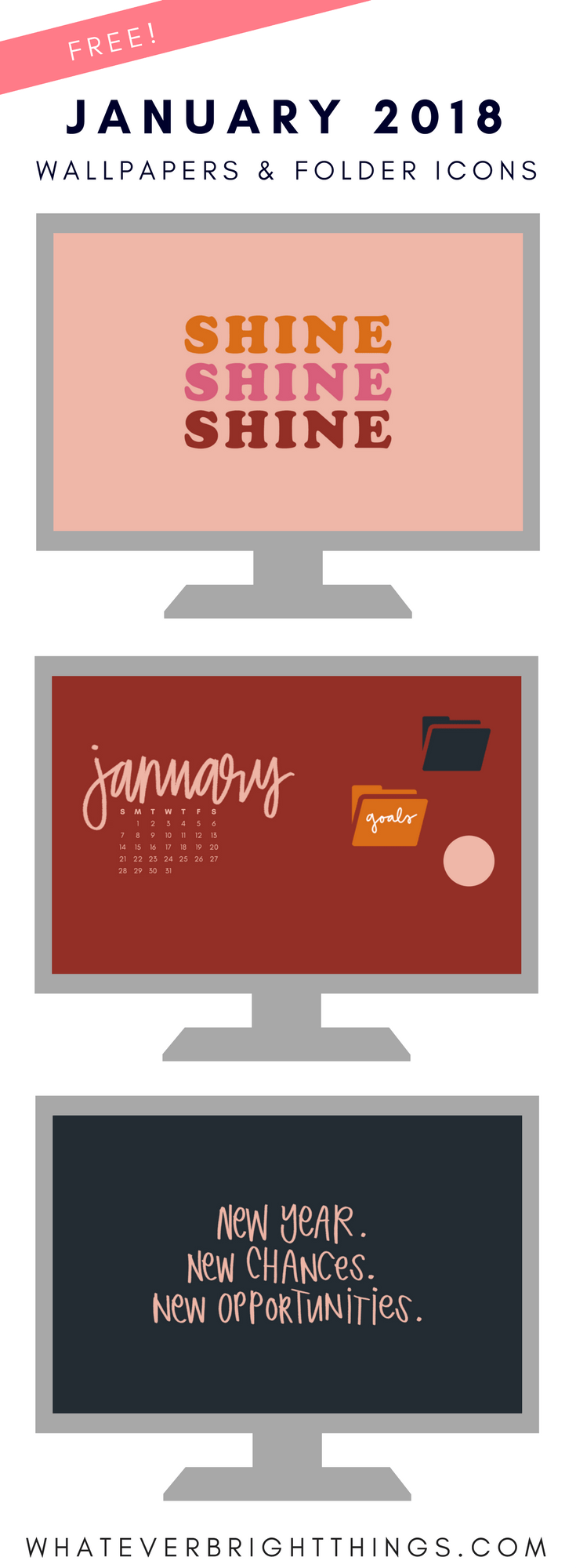 January 2018 Wallpapers & Folder Icons Folder icon