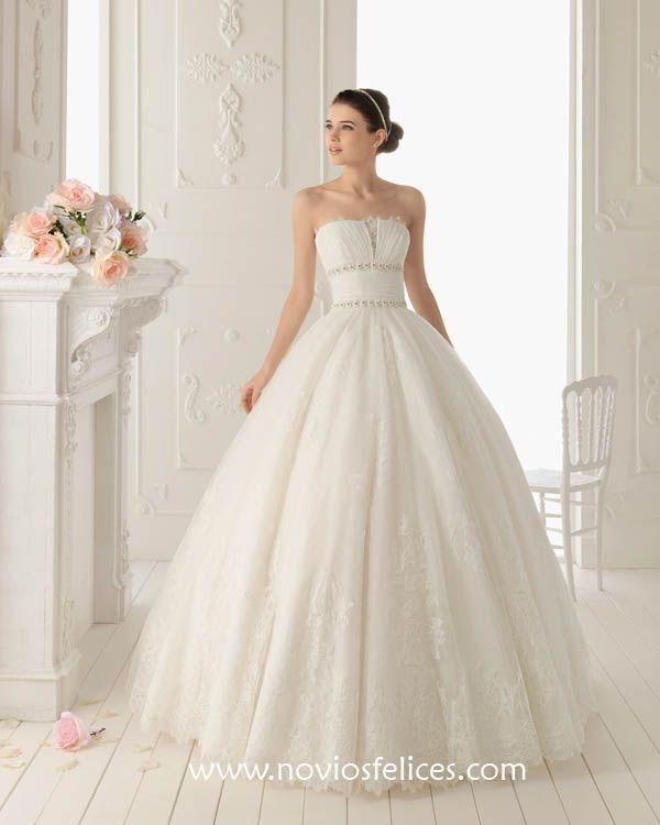 vestidos de novia de estilo princesa - aire barcelona 2013 | lindo