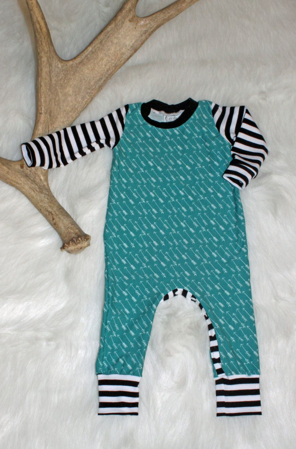 ae491a567d6 Baby Boy Romper   Arrows   Black and White Stripes   One Piece   Bodysuit    Rompaloons   Cloth Diaper   Toddler   Coming Home Outfit   Style by ...