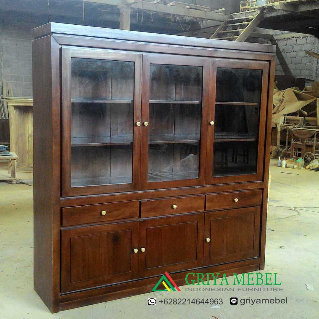 Furniture Jati Mebel Murah Jepara Almari Hias Modern Kayu