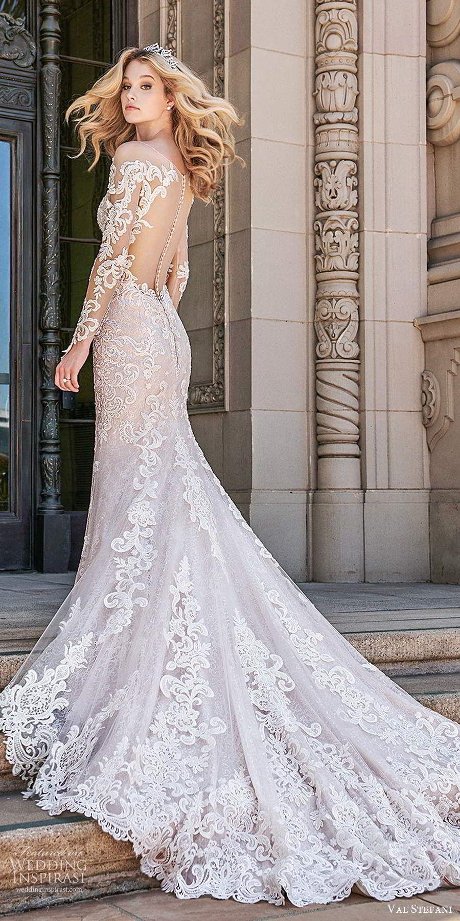 Val Stefani Spring 2020 Wedding Dresses Wedding Inspirasi Wedding Dress Long Sleeve Wedding Gowns Mermaid Wedding Dress Illusion Back [ 1800 x 900 Pixel ]