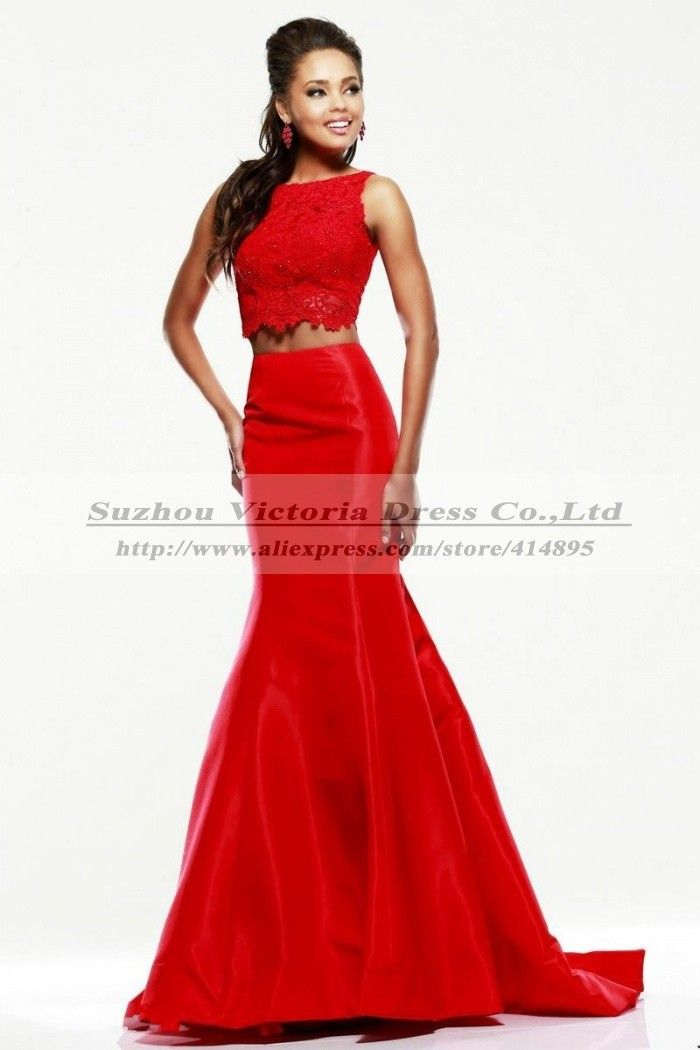 334545b150 Vestido 2 piezas rojo