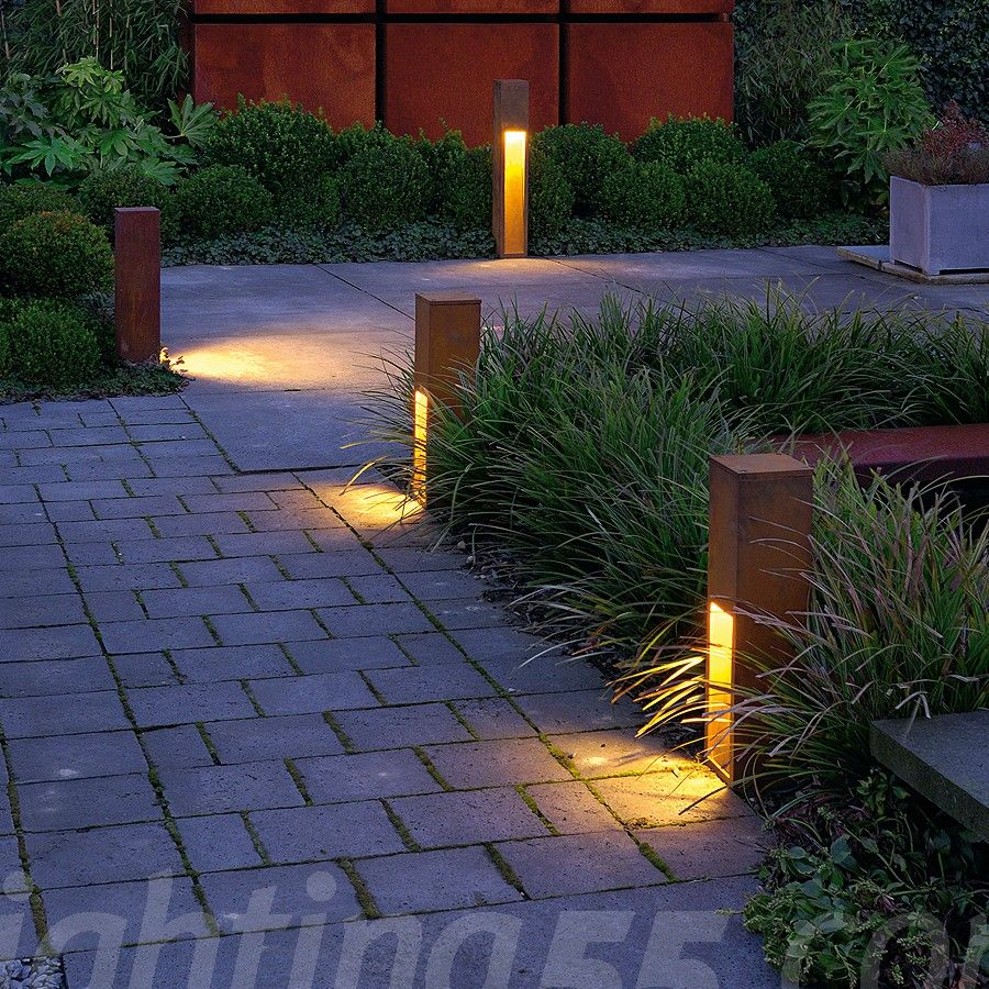 5 Pathway Lighting Tips Ideas Walkway Lights Guide: Rusty Slot 50 Outdoor Pathlight