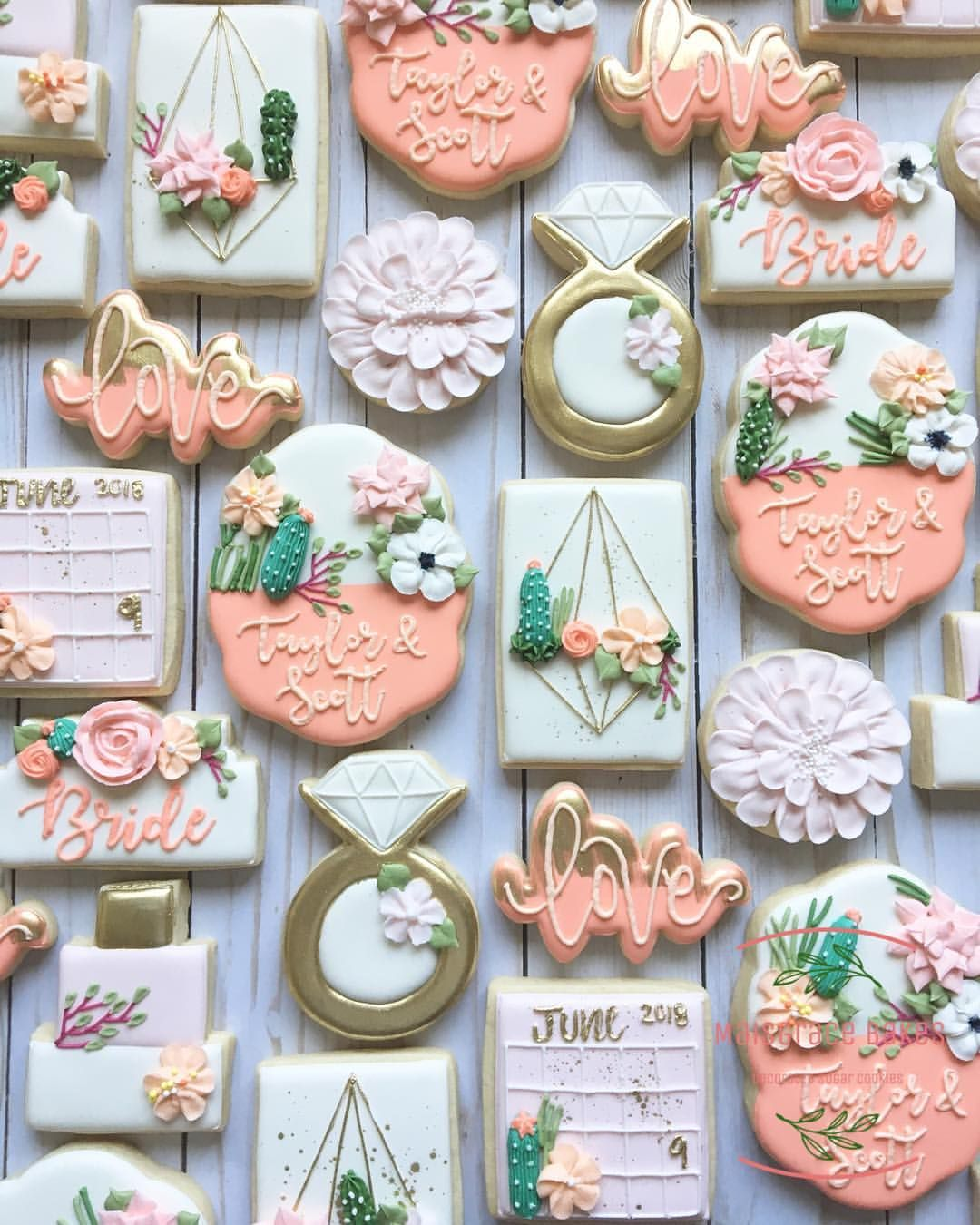 The prettiest bridal shower cookies there ever were. cacti