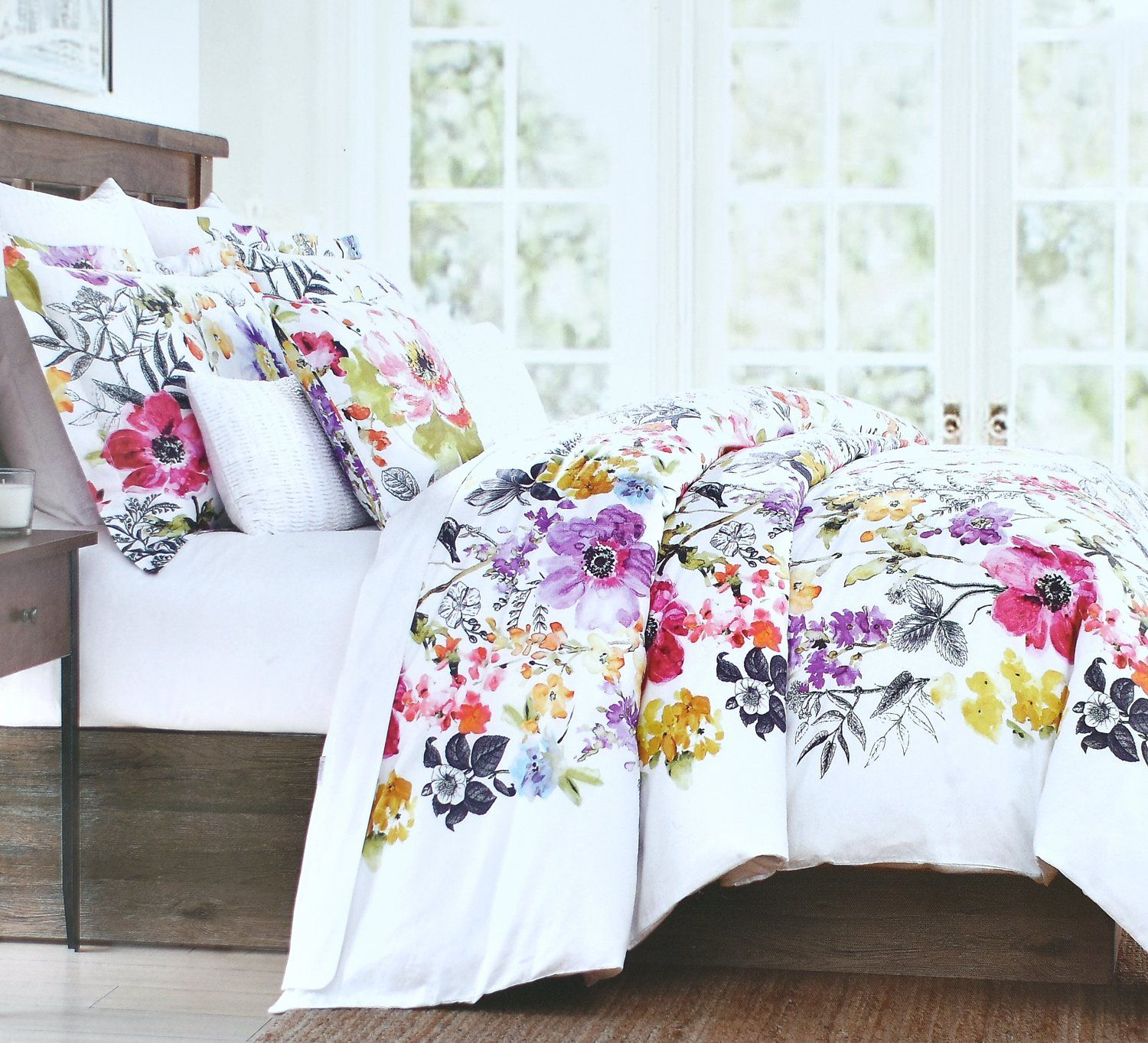 Vintage Botanical Wild Flower Print Duvet Quilt Cover By Envogue