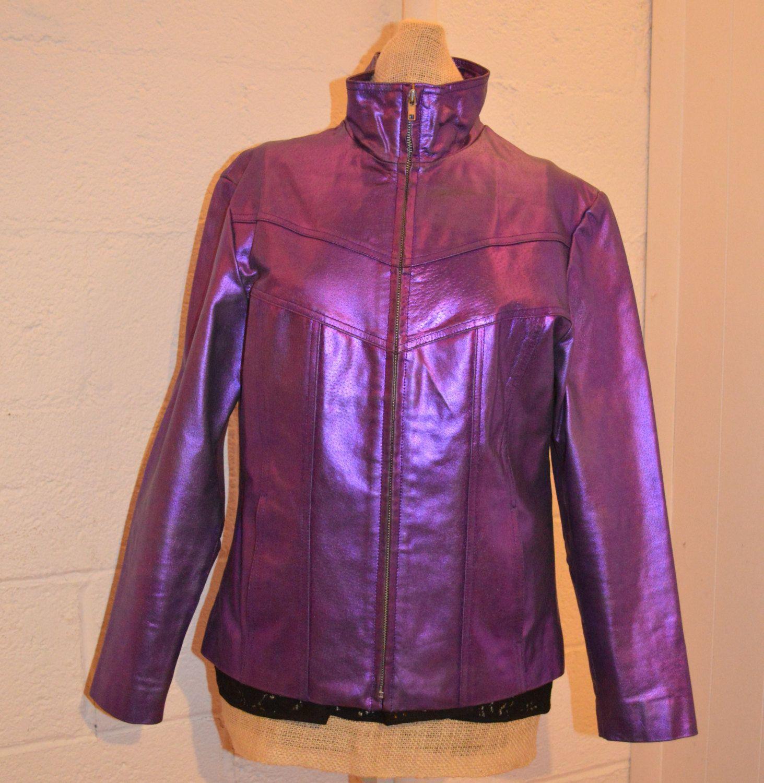 Vintage 90's Metallic Purple Leather WILSON'S Maxima Club