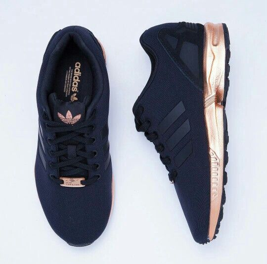 Adidas ZX Flux (Black and Copper Gold)✨ | Adidas schoenen ...