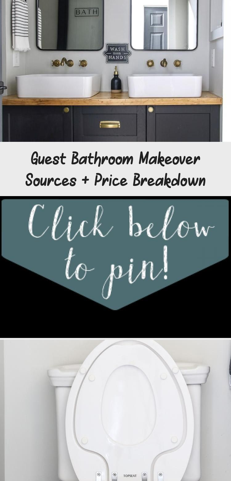 A Budget Friendly Guest Bathroom Remodel Cost And Source List We Fully Gutted This Bathroom And It In 2020 Bathroom Remodel Cost Guest Bathroom Remodel Guest Bathroom