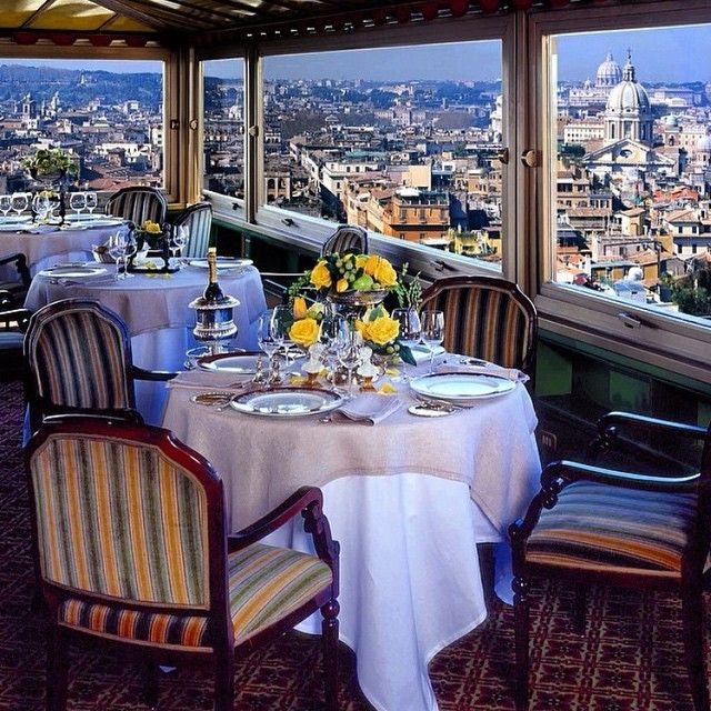 Lunch With A View Over Rome S Treetops At Imago Restaurant