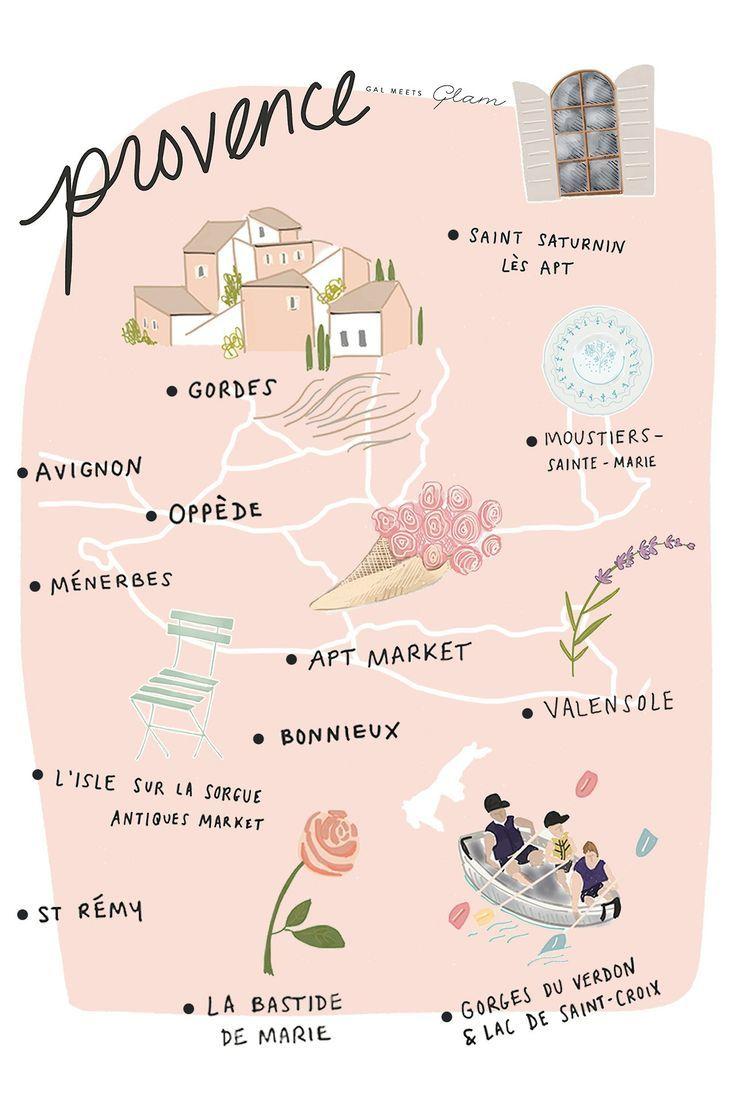 Apt France Map.Carte De Provence Riviera In 2019 France Provence France