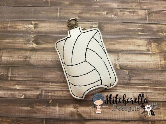 Volleyball Hand Sanitizer Holder Pocketbac Holder Personalized