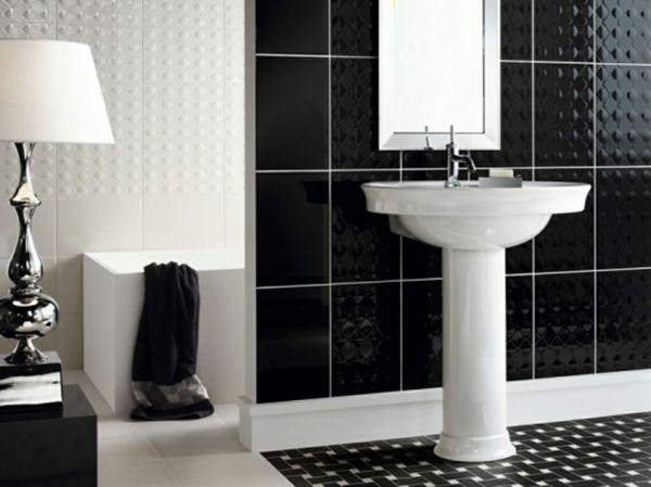 Badezimmer Design Schwarz Und Weiss Kombinieren Badezimmer Fliesen