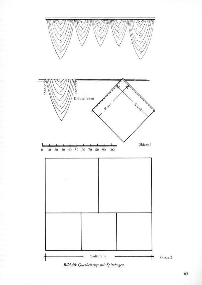 крой штор | Шторы чертежи. | Pinterest | Gardinen, Vorhänge und ...