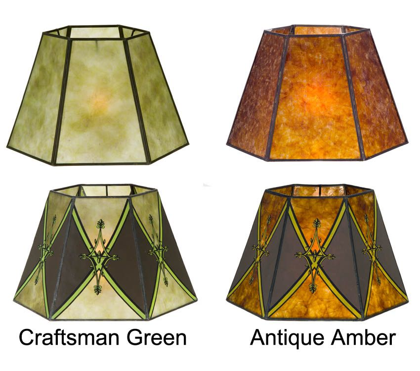 Hexagon Style Mica Lampshade | Antique Lamp Supply