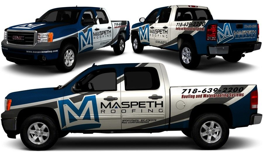 pick up: logo on door, more info on the back   Vehicle graphics ...