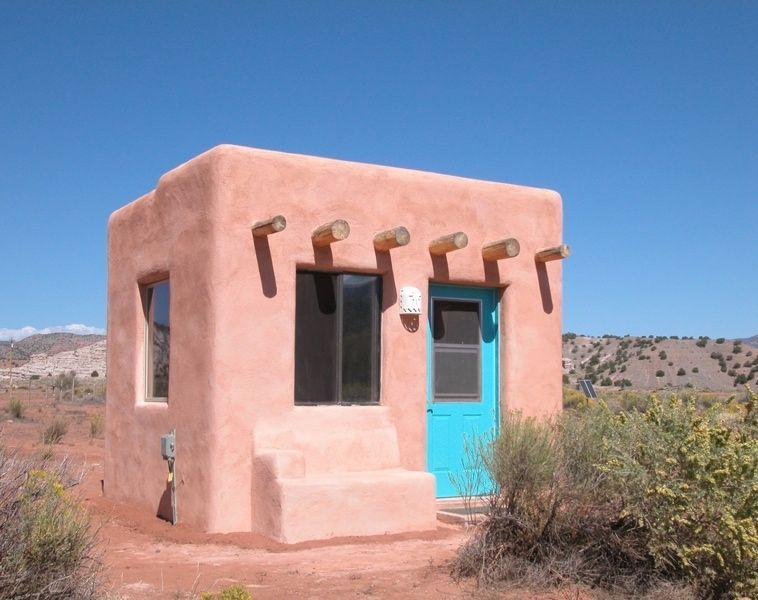 Adobe House Adobe Rigid insulation and White clay