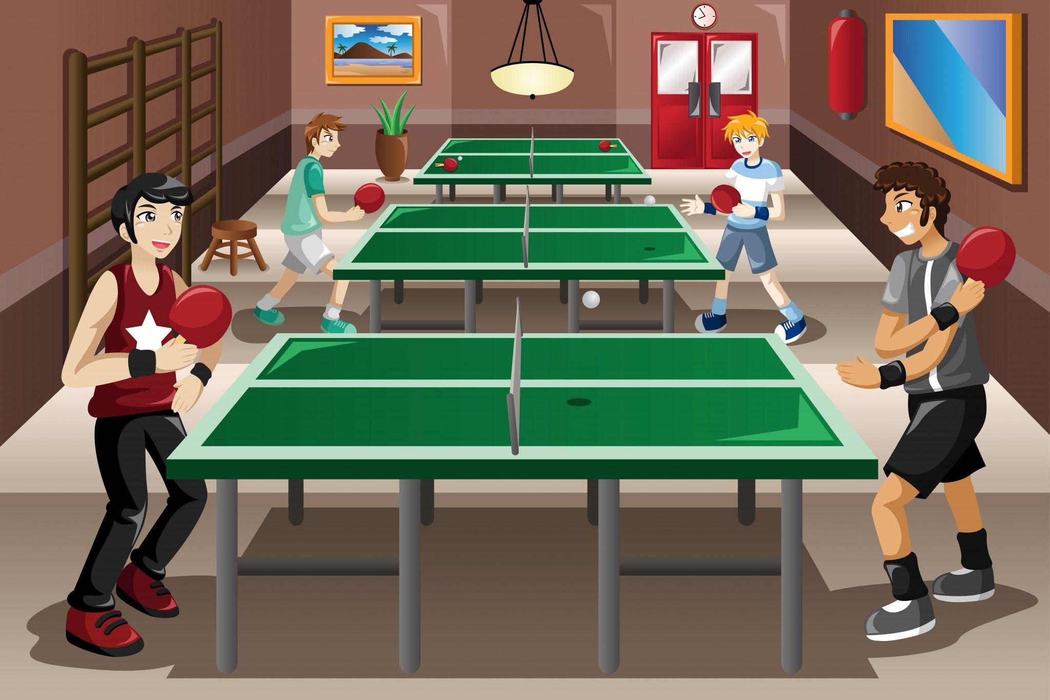 Masa tenisi çizgi karakter table tennis cartoon Tenis, Spor