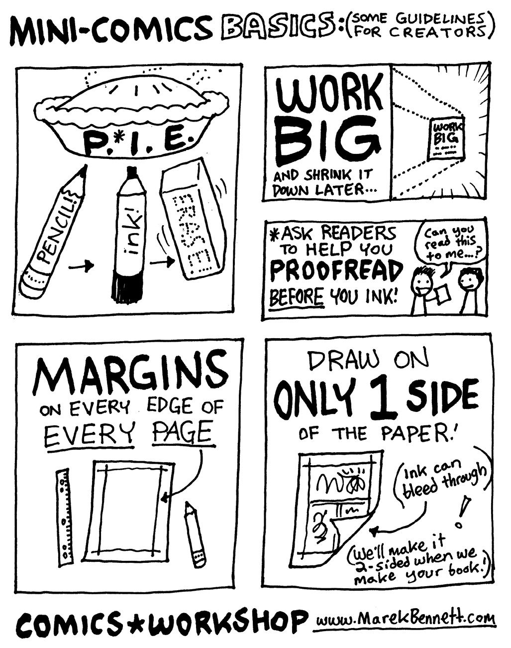 Mini-Comic Basics-Guidelines For Creators