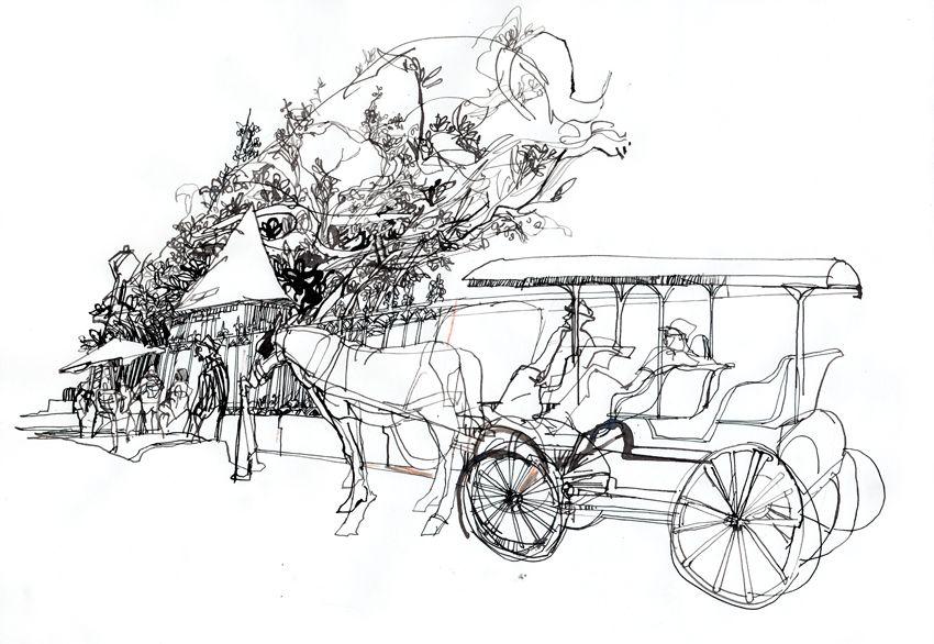 рисунок кареты с лошадьми карандашом последнее время